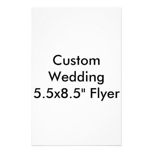 """Douane Vlieger van het Huwelijk 5.5x8.5 de"""" Folder Ontwerp"""