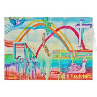 DOUBLE carte d'ARC-EN-CIEL - ©2012 SylviART