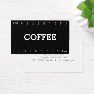 Cartes De Visite Double carte perforée simple de café de fidélité