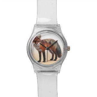 Double exposition de Fox - art de renard - renard Montre