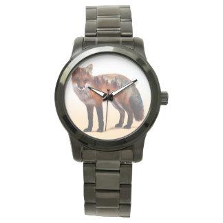 Double exposition de Fox - art de renard - renard Montres Bracelet