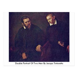 Double portrait de deux hommes par Jacopo Carte Postale