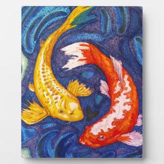 Doubles poissons de Koi Photos Sur Plaques