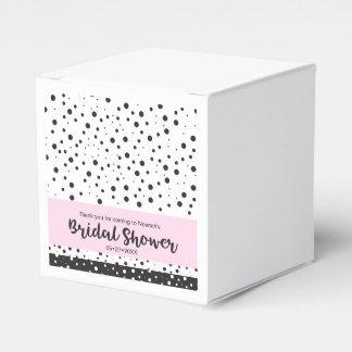 Douche noire et blanche et nuptiale simple boites faveurs de mariage