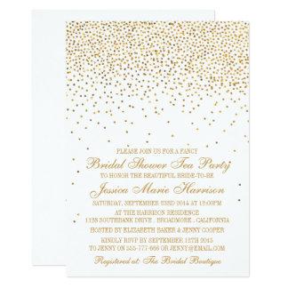Douche nuptiale de confettis fascinants vintages carton d'invitation  12,7 cm x 17,78 cm