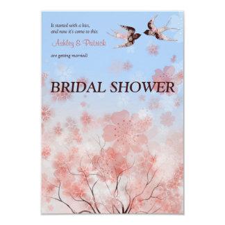 Douche nuptiale de fleurs de cerisier et carton d'invitation 8,89 cm x 12,70 cm