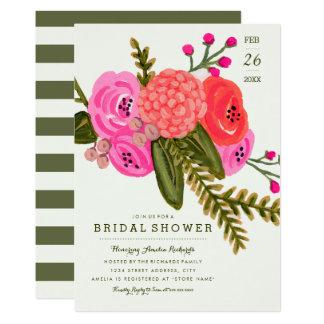 Douche nuptiale de jardin vintage carton d'invitation  12,7 cm x 17,78 cm
