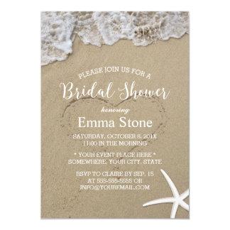 Douche nuptiale de mariage de plage d'été carton d'invitation  12,7 cm x 17,78 cm