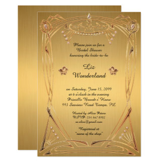 Douche nuptiale honorant, grand Gatsby, OR Carton D'invitation 12,7 Cm X 17,78 Cm