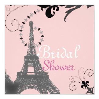 Douche nuptiale vintage de Paris de Tour Eiffel Carton D'invitation 13,33 Cm