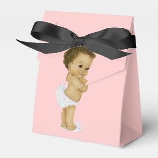 Douche rose de bébé de princesse Afro-américain Boites De Faveur