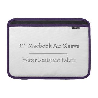 Douille d'air personnalisée de 11in Macbook Poches Pour Macbook Air