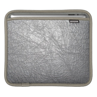 douille d'ipad de cuir de gris argenté poches iPad