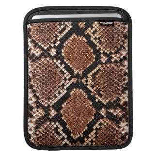 douille d'iPad - peau de serpent de boa Poches iPad