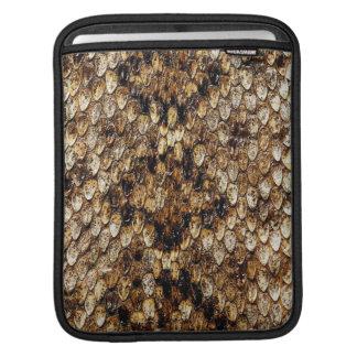 douille d'iPad - peau de serpent de vipère Poches iPad