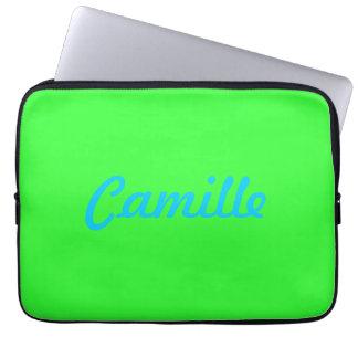 Douille d'ordinateur portable avec le nom housses ordinateur