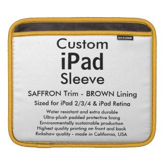 Douille faite sur commande d'iPad - horizontale Poches Pour iPad