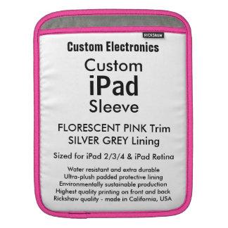 Douille faite sur commande d'iPad - verticale Poches iPad