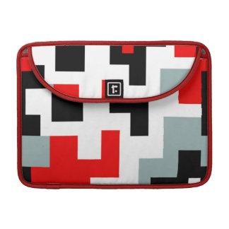 Douille géométrique de MacBook de noir rouge de Housse Pour Macbook