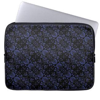 Douille noire et bleue d'ordinateur portable de housse ordinateur