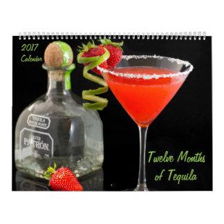 Douze mois de calendrier de la tequila 2017