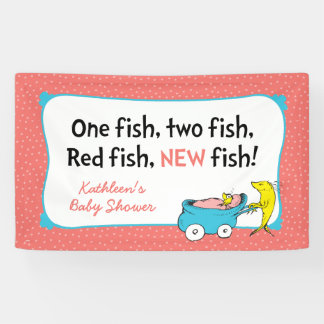 Dr. Seuss | un poisson - baby shower de fille Banderoles
