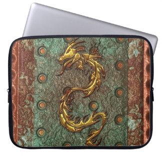 Dragon 3D-look asiatique de style bohème sur la Protection Pour Ordinateur Portable