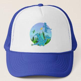 Dragon bleu casquette