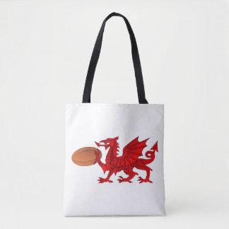 Dragon de Gallois avec un sac fourre-tout à boule
