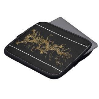 Dragon d'or sur la douille Asiatique-dénommée Housse Pour Ordinateur Portable