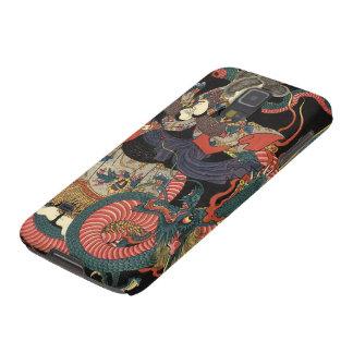 Dragon rouge et vert japonais vintage protection galaxy s5