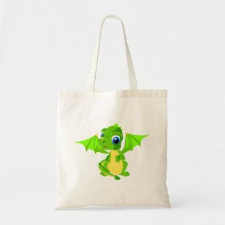 Dragon timide de bébé sac en toile budget