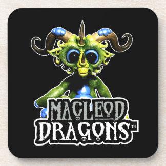 Dragon vert noir de DM Sous-bocks