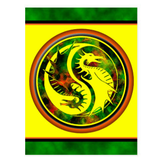 Dragon Yin Yang Carte Postale