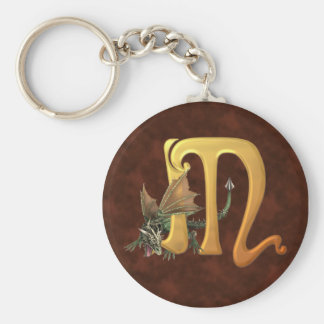 Dragonlore M initial Porte-clé Rond