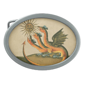 Dragons d'alchimie de Clavis Artis Boucle De Ceinture Ovale