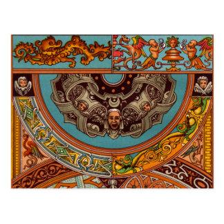Dragons et carte postale de gargouilles