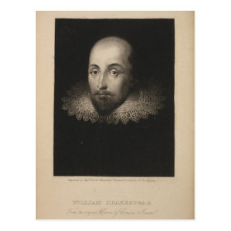 Dramaturge William Shakespeare par Cornélius Carte Postale