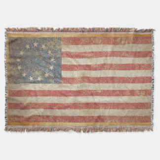Drapeau 1776 des USA Couvre Pied De Lit