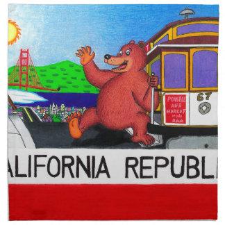 Drapeau 2 d'ours de San Francisco la Californie Serviettes De Table