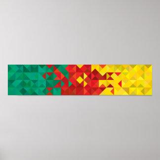 Drapeau abstrait du Cameroun, affiche du Cameroun Poster