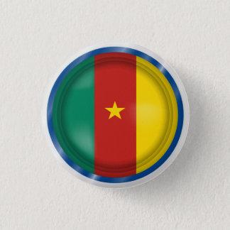 Drapeau abstrait du Cameroun, bouton du Cameroun Badge Rond 2,50 Cm