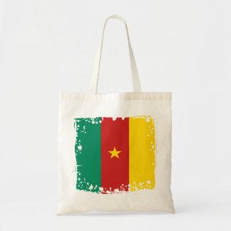 Drapeau abstrait du Cameroun, sac du Cameroun