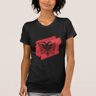 Drapeau albanais d'aigle t-shirt