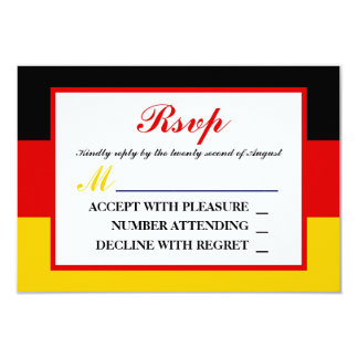Drapeau allemand épousant RSVP Carton D'invitation 8,89 Cm X 12,70 Cm