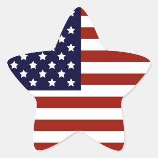 Drapeau américain autocollant en étoile