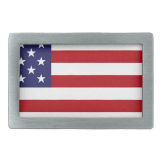 Drapeau américain - bannière étoilée - vieille boucles de ceinture rectangulaires