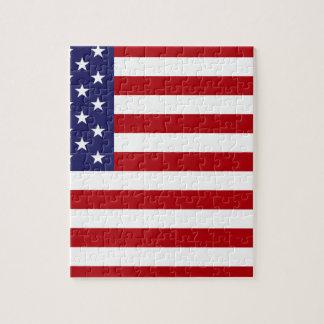 Drapeau américain - bannière étoilée - vieille puzzle