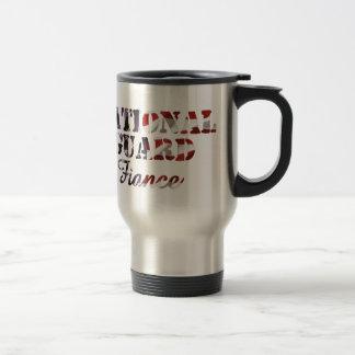 Drapeau américain de fiancé de garde nationale mug de voyage