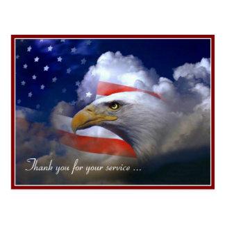 Drapeau américain de jour de vétérans et carte
